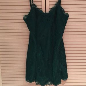 Emerald green Victoria's Secret chemise size Large